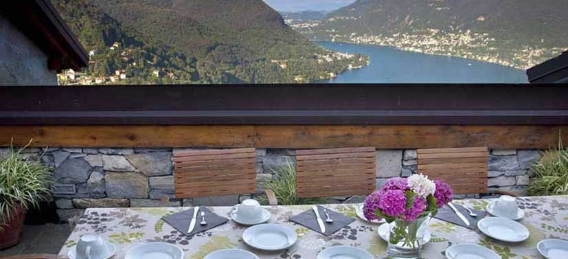 Panoramic Terrace - Aquarelle Bed & Breakfast Lake Como